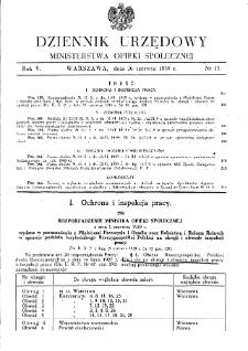 Dziennik Urzędowy Ministerstwa Opieki Społecznej : 1939, nr 13