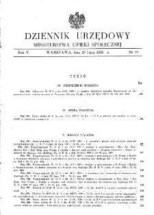 Dziennik Urzędowy Ministerstwa Opieki Społecznej : 1939, nr 15
