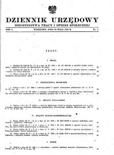 Dziennik Urzędowy Ministerstwa Pracy i Opieki Społecznej : 1946, nr 2