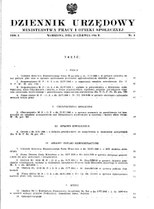 Dziennik Urzędowy Ministerstwa Pracy i Opieki Społecznej : 1946, nr 3