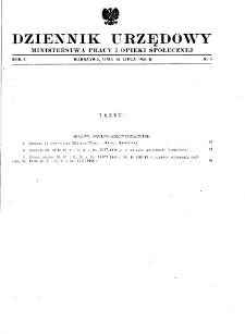 Dziennik Urzędowy Ministerstwa Pracy i Opieki Społecznej : 1946, nr 4