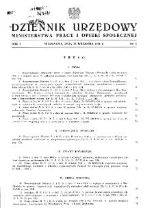 Dziennik Urzędowy Ministerstwa Pracy i Opieki Społecznej : 1946, nr 5