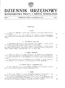 Dziennik Urzędowy Ministerstwa Pracy i Opieki Społecznej : 1946, nr 6