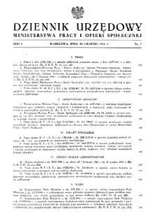 Dziennik Urzędowy Ministerstwa Pracy i Opieki Społecznej : 1946, nr 7