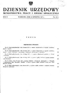 Dziennik Urzędowy Ministerstwa Pracy i Opieki Społecznej : 1947, nr 4
