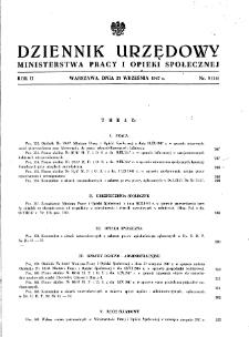 Dziennik Urzędowy Ministerstwa Pracy i Opieki Społecznej : 1947, nr 9