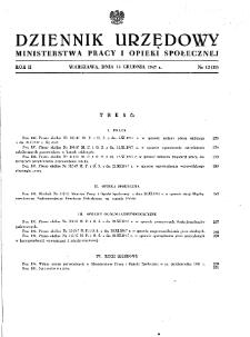 Dziennik Urzędowy Ministerstwa Pracy i Opieki Społecznej : 1947, nr 12