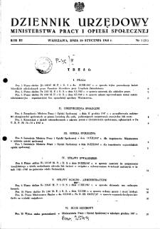 Dziennik Urzędowy Ministerstwa Pracy i Opieki Społecznej : 1948, nr 1
