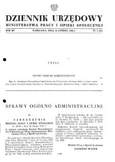 Dziennik Urzędowy Ministerstwa Pracy i Opieki Społecznej : 1948, nr 2