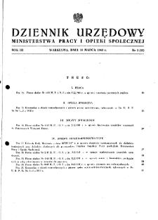 Dziennik Urzędowy Ministerstwa Pracy i Opieki Społecznej : 1948, nr 3