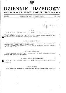Dziennik Urzędowy Ministerstwa Pracy i Opieki Społecznej : 1948, nr 4