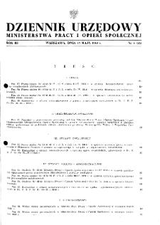 Dziennik Urzędowy Ministerstwa Pracy i Opieki Społecznej : 1948, nr 6
