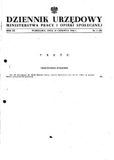 Dziennik Urzędowy Ministerstwa Pracy i Opieki Społecznej : 1948, nr 8