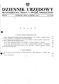 Dziennik Urzędowy Ministerstwa Pracy i Opieki Społecznej : 1948, nr 10