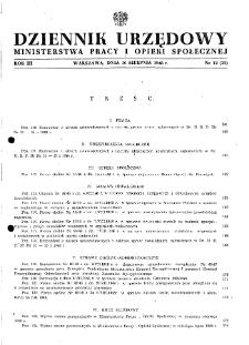Dziennik Urzędowy Ministerstwa Pracy i Opieki Społecznej : 1948, nr 12