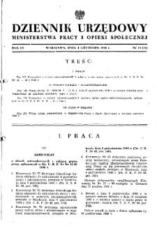 Dziennik Urzędowy Ministerstwa Pracy i Opieki Społecznej : 1948, nr 16