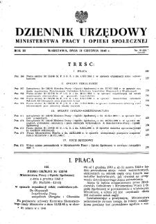 Dziennik Urzędowy Ministerstwa Pracy i Opieki Społecznej : 1948, nr 19