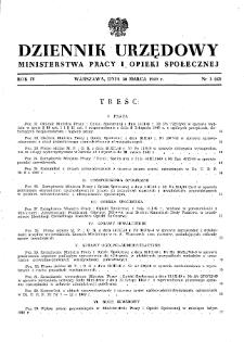 Dziennik Urzędowy Ministerstwa Pracy i Opieki Społecznej : 1949, nr 3