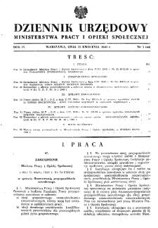 Dziennik Urzędowy Ministerstwa Pracy i Opieki Społecznej : 1949, nr 5