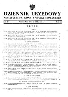 Dziennik Urzędowy Ministerstwa Pracy i Opieki Społecznej : 1949, nr 6
