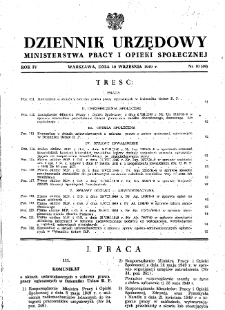 Dziennik Urzędowy Ministerstwa Pracy i Opieki Społecznej : 1949, nr 10