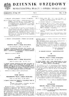Dziennik Urzędowy Ministerstwa Pracy i Opieki Społecznej : 1950, nr 3