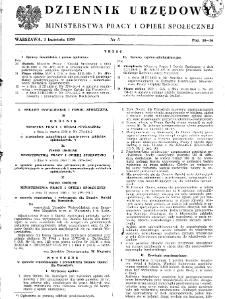 Dziennik Urzędowy Ministerstwa Pracy i Opieki Społecznej : 1950, nr 5