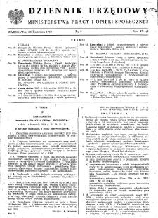 Dziennik Urzędowy Ministerstwa Pracy i Opieki Społecznej : 1950, nr 6