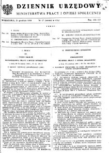 Dziennik Urzędowy Ministerstwa Pracy i Opieki Społecznej : 1950, nr 17
