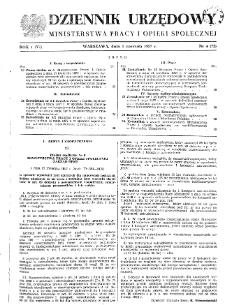 Dziennik Urzędowy Ministerstwa Pracy i Opieki Społecznej : 1957, nr 4