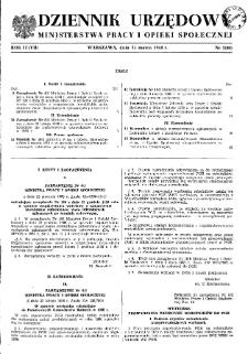 Dziennik Urzędowy Ministerstwa Pracy i Opieki Społecznej : 1958, nr 2