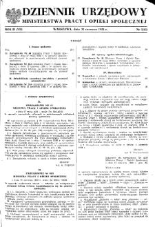 Dziennik Urzędowy Ministerstwa Pracy i Opieki Społecznej : 1958, nr 5