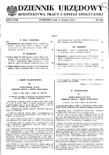 Dziennik Urzędowy Ministerstwa Pracy i Opieki Społecznej : 1958, nr 6
