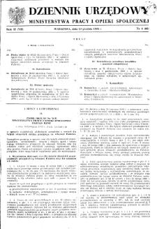 Dziennik Urzędowy Ministerstwa Pracy i Opieki Społecznej : 1958, nr 8