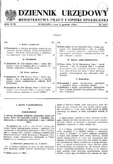 Dziennik Urzędowy Ministerstwa Pracy i Opieki Społecznej : 1958, nr 9