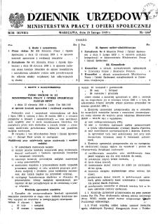 Dziennik Urzędowy Ministerstwa Pracy i Opieki Społecznej : 1959, nr 1