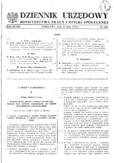 Dziennik Urzędowy Ministerstwa Pracy i Opieki Społecznej : 1959, nr 5