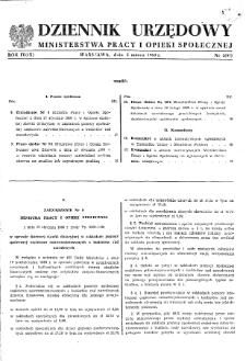 Dziennik Urzędowy Ministerstwa Pracy i Opieki Społecznej : 1960, nr 2