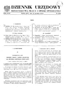 Dziennik Urzędowy Ministerstwa Pracy i Opieki Społecznej : 1960, nr 4