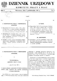 Dziennik Urzędowy Komitetu Pracy i Płac : 1961, nr 2