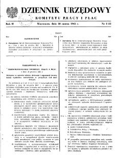 Dziennik Urzędowy Komitetu Pracy i Płac : 1962, nr 2