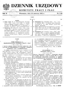 Dziennik Urzędowy Komitetu Pracy i Płac : 1962, nr 3