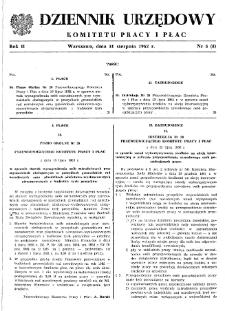 Dziennik Urzędowy Komitetu Pracy i Płac : 1962, nr 5