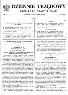 Dziennik Urzędowy Komitetu Pracy i Płac : 1962, nr 7