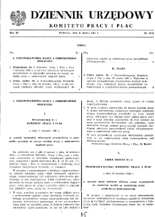 Dziennik Urzędowy Komitetu Pracy i Płac : 1963, nr 1
