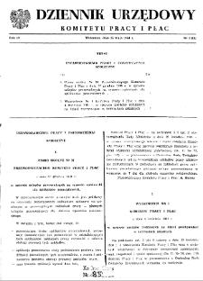 Dziennik Urzędowy Komitetu Pracy i Płac : 1964, nr 1