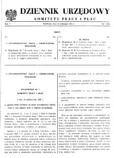 Dziennik Urzędowy Komitetu Pracy i Płac : 1965, nr 7