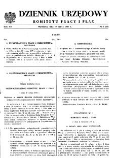 Dziennik Urzędowy Komitetu Pracy i Płac : 1967, nr 1