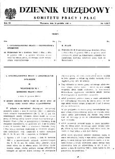 Dziennik Urzędowy Komitetu Pracy i Płac : 1969, nr 7