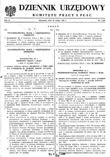 Dziennik Urzędowy Komitetu Pracy i Płac : 1970, nr 1